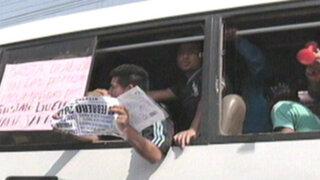 Choferes del 'Chosicano' marcharon contra el exceso de papeletas