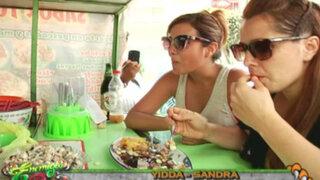 Sandra Vergara y Yiddá Eslava quedaron fascinadas con el sabor de singular plato