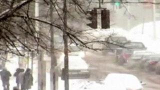 EEUU: cierre de escuelas y accidentes por fuertes nevadas