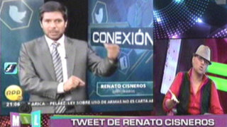 Mil Disculpas: Tuit de Renato Cisneros sobre Vanessa Jerí causa polémica