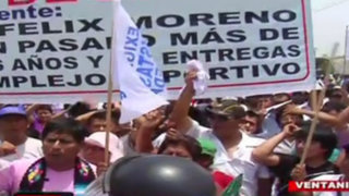 Pobladores bloquean Avenida Faucett exigiendo obras en el Callao