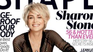 Sensual actriz Sharon Stone confiesa que tenía mucho miedo a envejecer