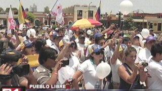 Venezolanos mostraron su solidaridad con marcha opositora en Lima