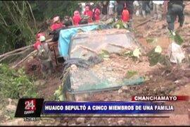 Chanchamayo: cinco integrantes de una familia murieron sepultados por huayco