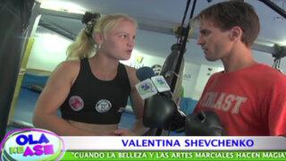 Nahuel López cumplió desafío y se enfrentó a Valentina Shevchenko