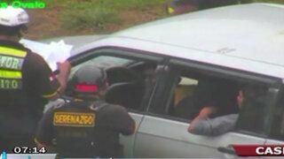 Casma: Policía judicial bebió junto a requisitoriado y lo dejó conducir su auto