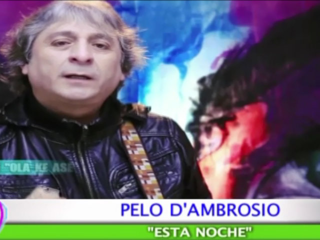 Pelo D'Ambrosio presenta en exclusiva el videoclip de su tema 'Esta noche'