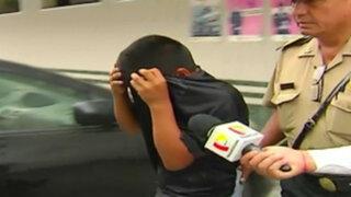 Niño de 13 años integraba banda de asaltantes en Ate