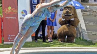 El piscinazo sin ropa de Sigrid Alegría, la reina del Festival de Viña del Mar 2014