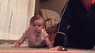 VIDEO: simpática rutina de ejercicios de un padre y su pequeña hija