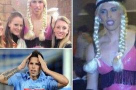 Fotos de jugador del Nápoli disfrazado de bailarina causan escándalo en Italia