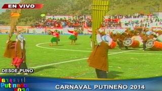 Coloridas comparsas danzaron en el Carnaval de San Antonio de Putina
