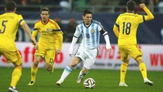 Argentina igualó sin goles ante Rumania con un Messi que nunca apareció
