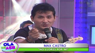 'No llores por mí': Max Castro arranca suspiros con su romántico tema