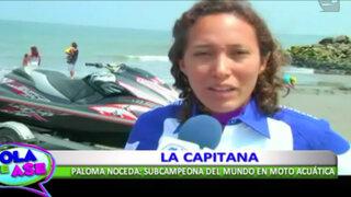 Paloma Noceda, conoce a la subcampeona del mundo en moto acuática