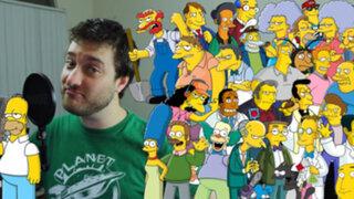 Imitador de las 33 voces de Los Simpsons causa furor en redes sociales