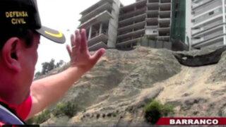 Barranco: cerrarán tramo de la Costa Verde para retirar piedras de acantilados