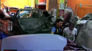 Descubren 'cementerio' de autos robados en San Juan de Lurigancho
