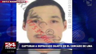 Cercado de Lima: capturan a sujeto que mostraba sus genitales a niñas