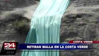 Barranco: retiran malla a punto de colapsar en la Costa Verde