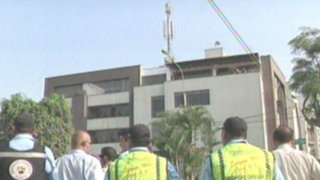 Municipalidad de Surco retira segunda antena ilegal de telefonía móvil