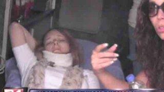 Turista inglesa sufre terrible accidente en paseo con el Mirabús en la Costa Verde