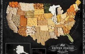 El arte de los mapas con comida: países para comérselos y chuparse los dedos