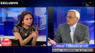 """Hildebrandt: """"Que Humala deje el closet y se convierta en el Presidente"""""""