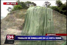Costa Verde: cierran carril por trabajos de colocación de geomallas