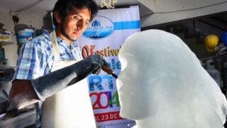 Magdalena del Mar: artistas esculpieron fantásticas esculturas en bloques de hielo