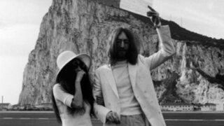 Espectáculos: se cumplen 45 años de la boda de John Lennon y Yoko Ono