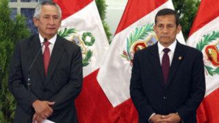 Ollanta Humala respaldó a René Cornejo y criticó nuevamente al Congreso