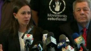 María Corina Machado: Tienen miedo que la realidad de Venezuela se conozca