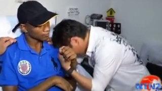 Boxeador tuvo emotivo reencuentro con el rival al que había dejado en coma