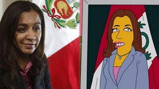 Vicepresidenta Marisol Espinoza aparece en nuevo capítulo de Los Simpson