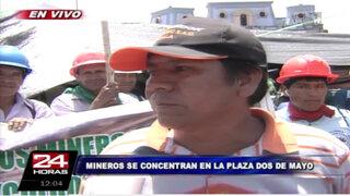 Mineros informales: Van a haber detenidos, denunciados y muertos en protestas