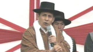 Ayacucho: Ollanta Humala no quiso hablar sobre 'bomba' de Yehude Simon