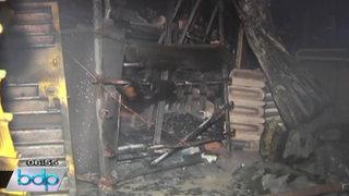 Incendio destruyó casa que funcionaba como ferretería en SMP esta madrugada