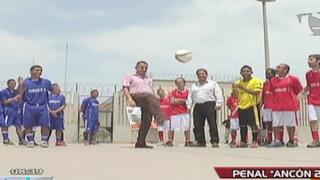 Fútbol con máxima seguridad: Campeonato reunió a internos y ex futbolistas