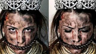 Venezuela: modelo protesta con aterradoras fotos contra el gobierno de Maduro