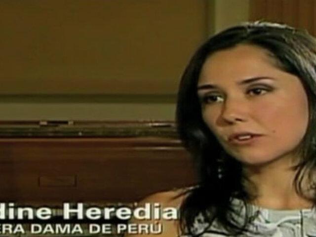 "Nadine Heredia: ""No sueño con ser presidenta"""