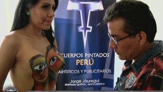 Puro arte: los cuerpos pintados de Jorge Jáuregui Barrientos