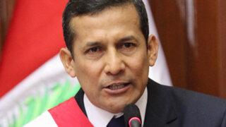 Aprobación a la gestión del presidente Ollanta Humala bajó a 24%