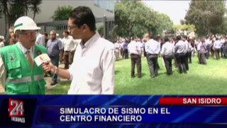 VIDEO: Así se desarrolló el simulacro de sismo e incendio en San Isidro