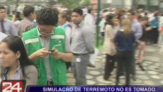 Falta de seriedad en simulacro de sismo de centro financiero en San Isidro