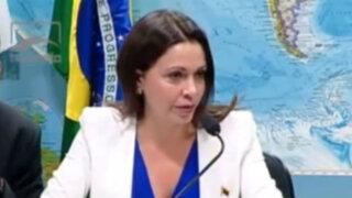 María Corina Machado denuncia en Brasil crisis venezolana