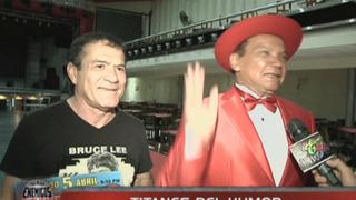 El espectacular mano a mano entre Melcochita y Miguel 'El Chato' Barraza