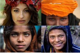 Un viaje alrededor del mundo a través de los rostros característicos de cada lugar