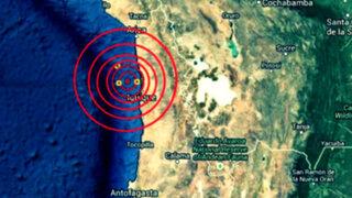 Nuevo sismo de magnitud 5.6 sacude el norte de Chile