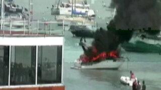 VIDEO: Yate se incendia en altamar debido a un cortocircuito